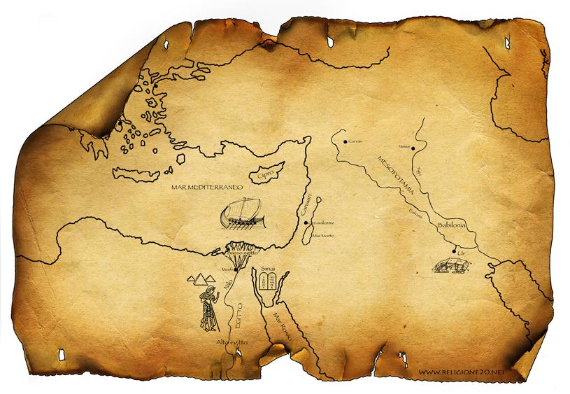 La Mappa Della Mezzaluna Fertile Da Scaricare E Colorare Religione