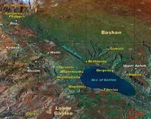 mappa galilea