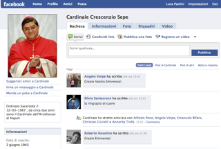 cardinal sepe on facebook
