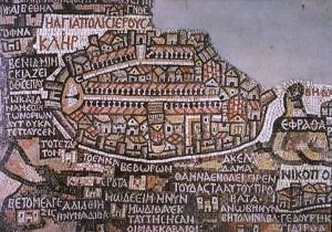 mappa-gerusalemme-madaba