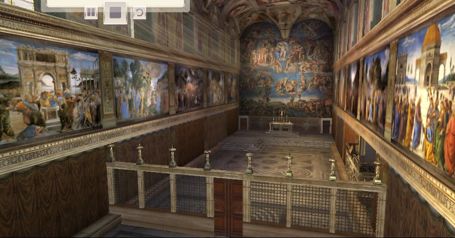 Tour virtuale della cappella sistina religione 2 0 l for Decorazione quattrocentesca della cappella sistina